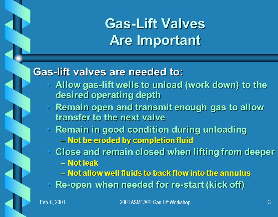 Gas-Lift Valves Are Important