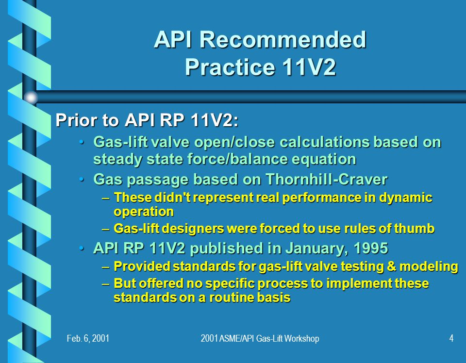 API Recommended Practice 11V2