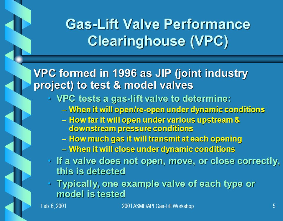 Gas-Lift Valve Performance Clearinghouse (VPC)