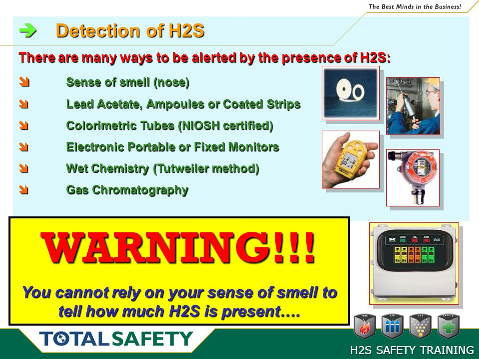 WARNING!!! Detection of H2S