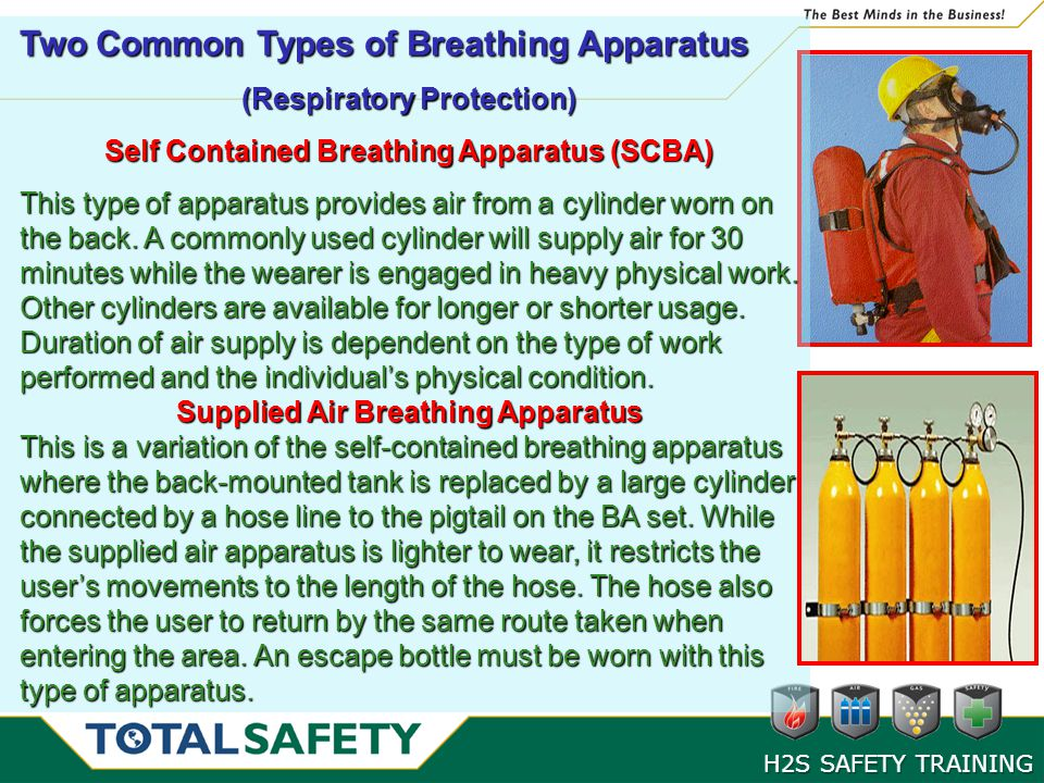 Two Common Types of Breathing Apparatus