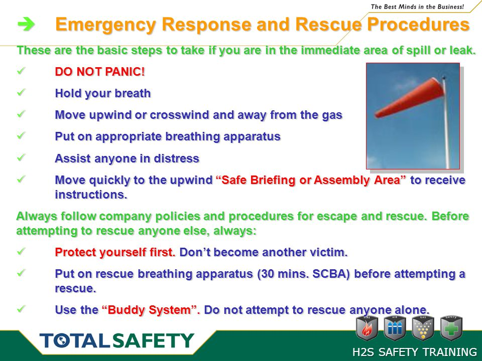 Emergency Response and Rescue Procedures