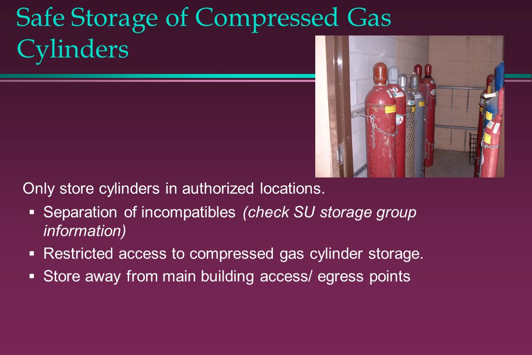 Safe Storage of Compressed Gas Cylinders