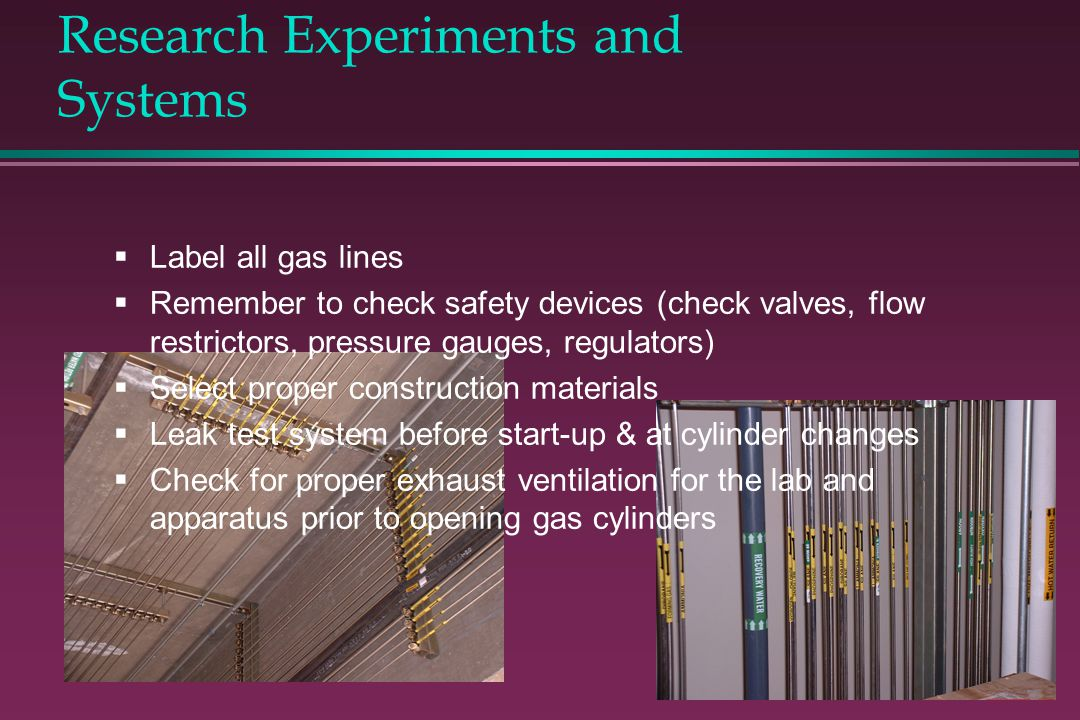 Research Experiments and Systems