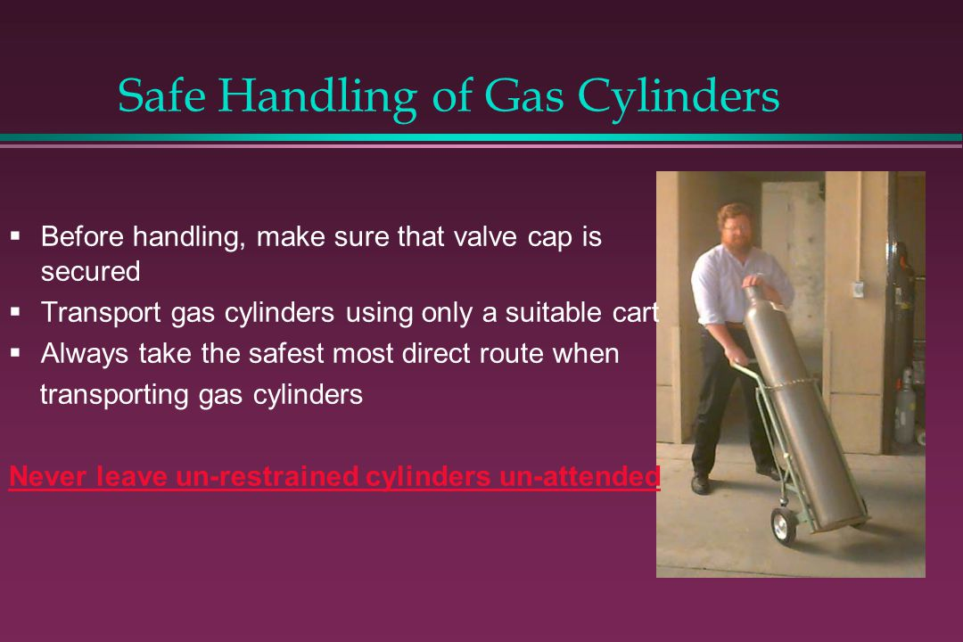 Safe Handling of Gas Cylinders