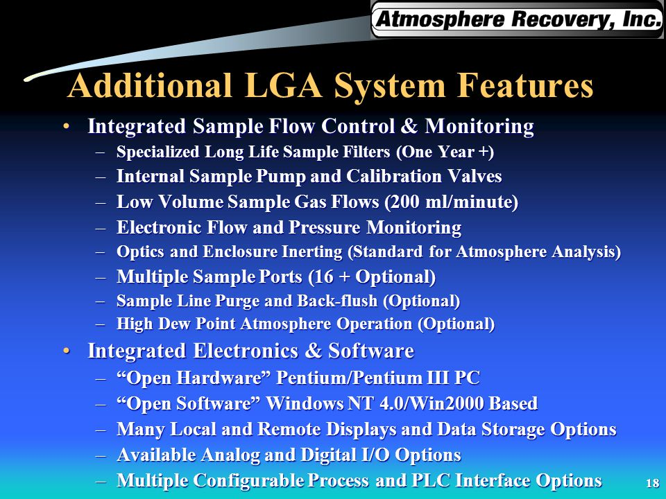 Additional LGA System Features