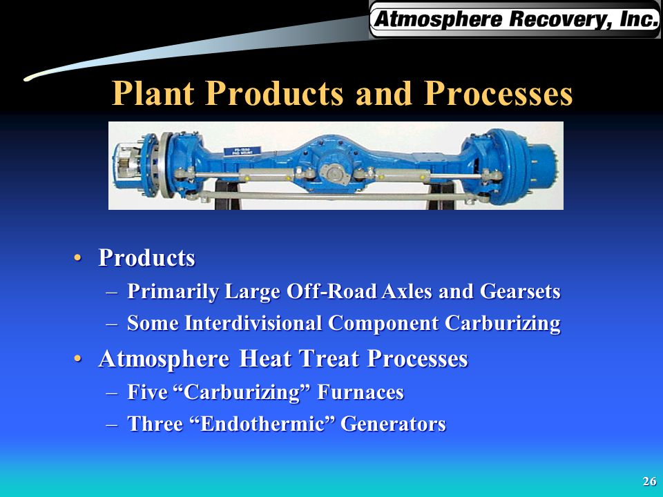 Plant Products and Processes