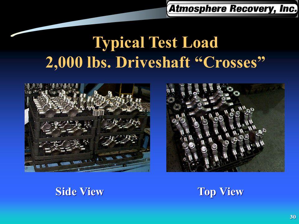 2,000 lbs. Driveshaft Crosses