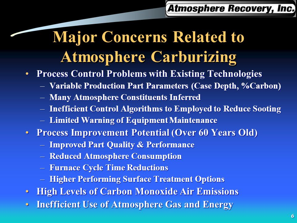 Major Concerns Related to Atmosphere Carburizing