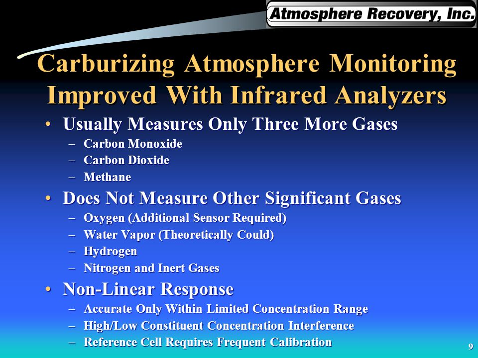 Carburizing Atmosphere Monitoring Improved With Infrared Analyzers