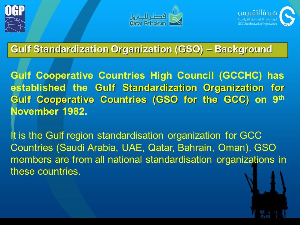 Gulf Standardization Organization (GSO) – Background