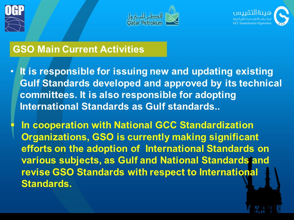 GSO Main Current Activities