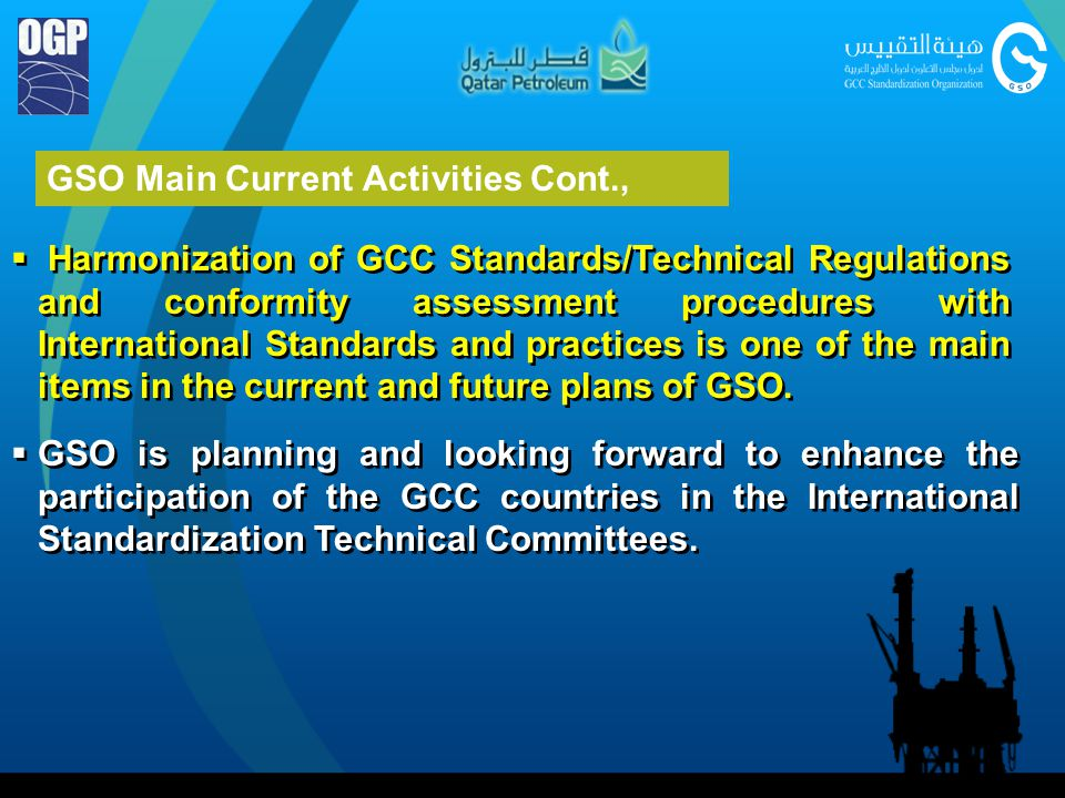 GSO Main Current Activities Cont.,