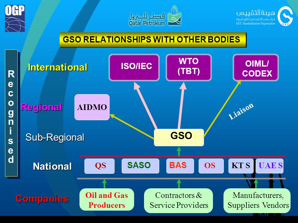 GSO RELATIONSHIPS WITH OTHER BODIES