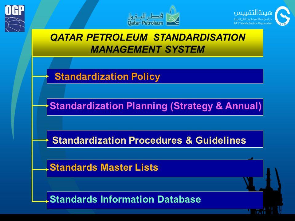 QATAR PETROLEUM STANDARDISATION MANAGEMENT SYSTEM