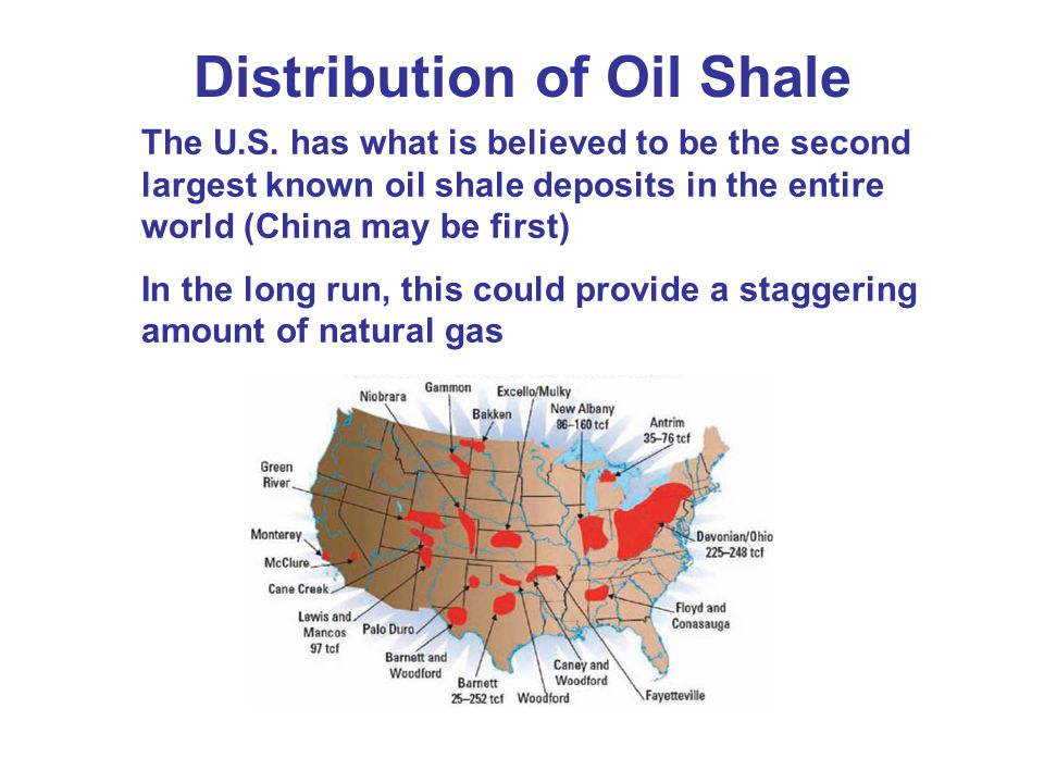 Distribution of Oil Shale
