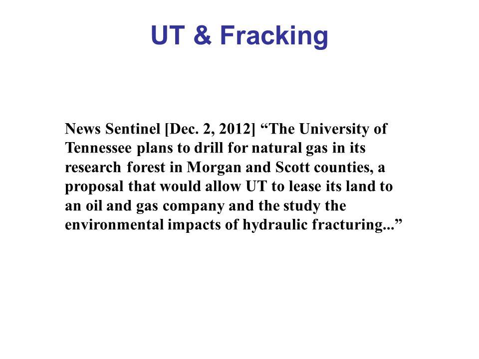 UT & Fracking