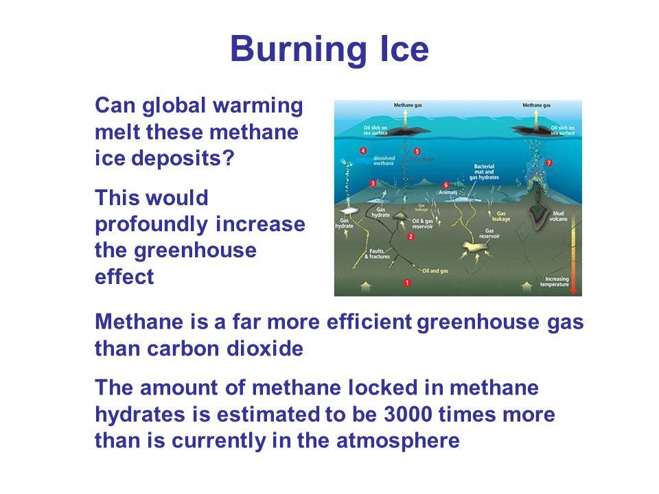 Burning Ice Can global warming melt these methane ice deposits