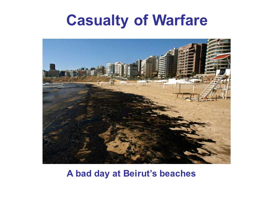 Casualty of Warfare A bad day at Beirut's beaches