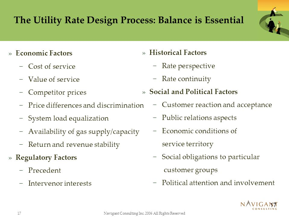 The Utility Rate Design Process: Balance is Essential