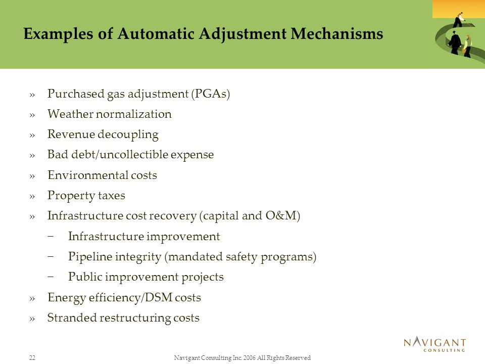 Examples of Automatic Adjustment Mechanisms