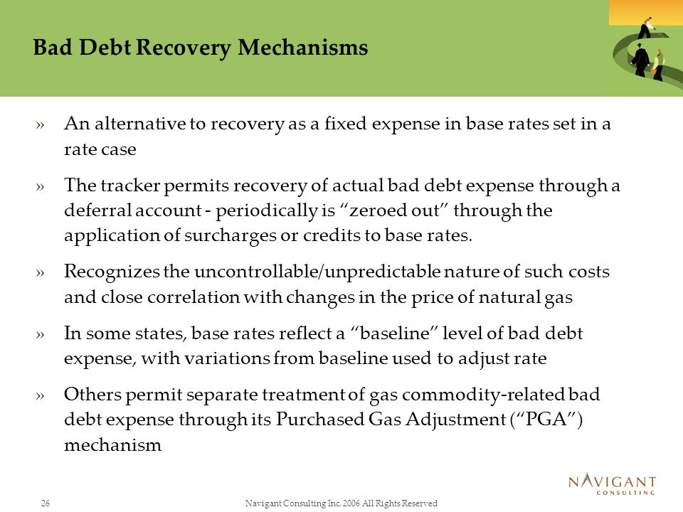 Bad Debt Recovery Mechanisms
