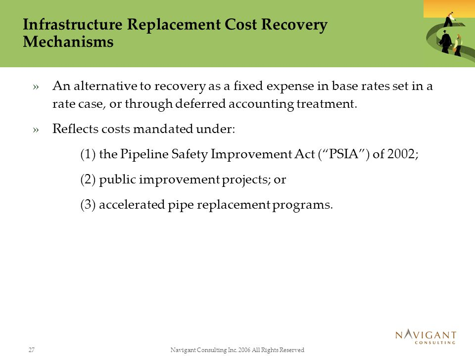Infrastructure Replacement Cost Recovery Mechanisms