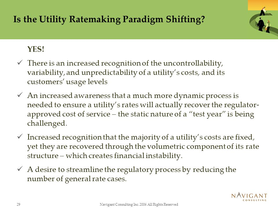 Is the Utility Ratemaking Paradigm Shifting