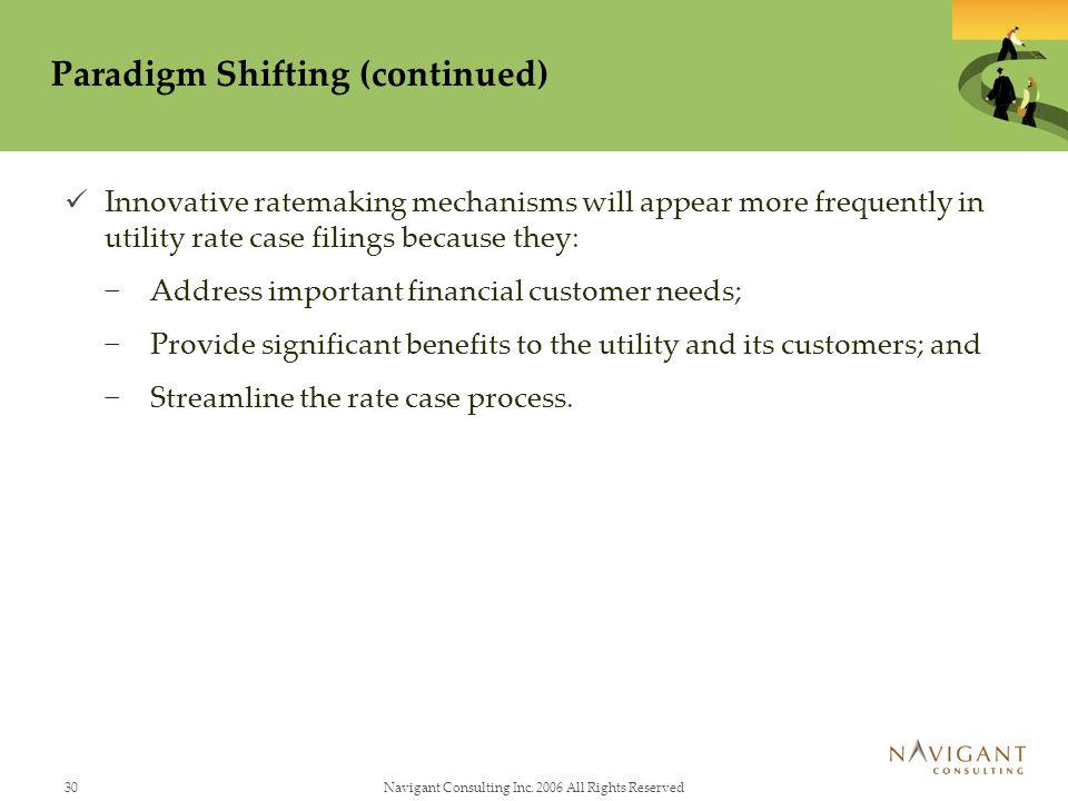 Paradigm Shifting (continued)