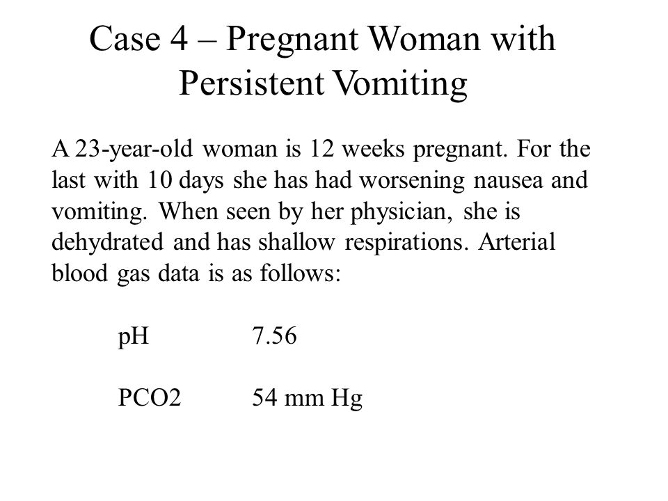 Case 4 – Pregnant Woman with Persistent Vomiting