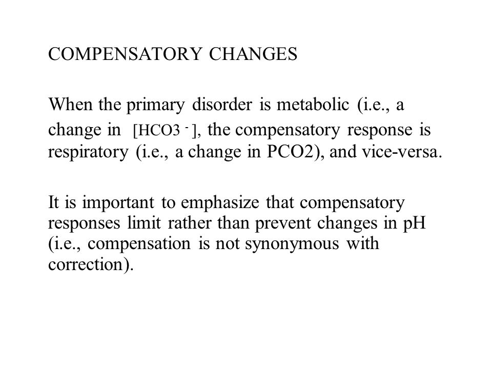 COMPENSATORY CHANGES