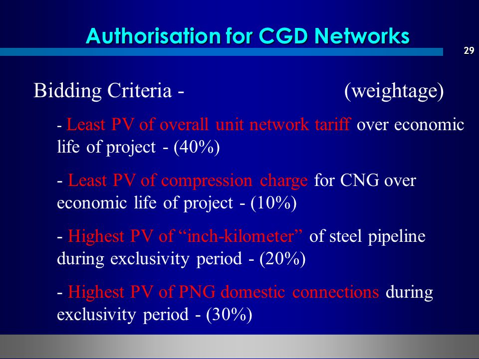 Authorisation for CGD Networks