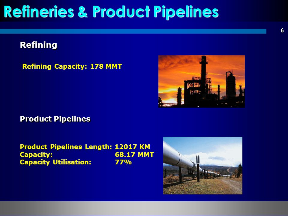 Refineries & Product Pipelines