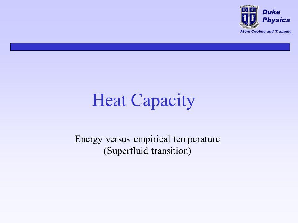 Heat Capacity Energy versus empirical temperature