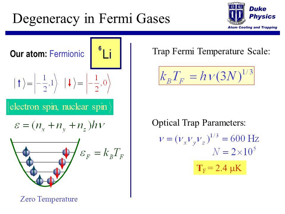 Degeneracy in Fermi Gases