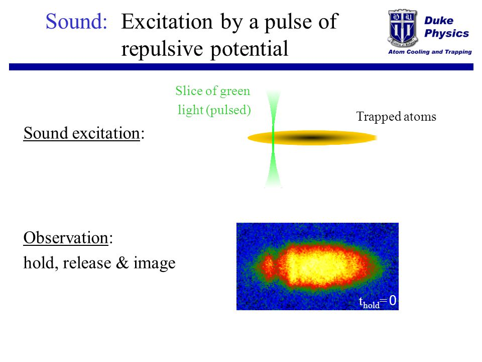 Sound: Excitation by a pulse of repulsive potential