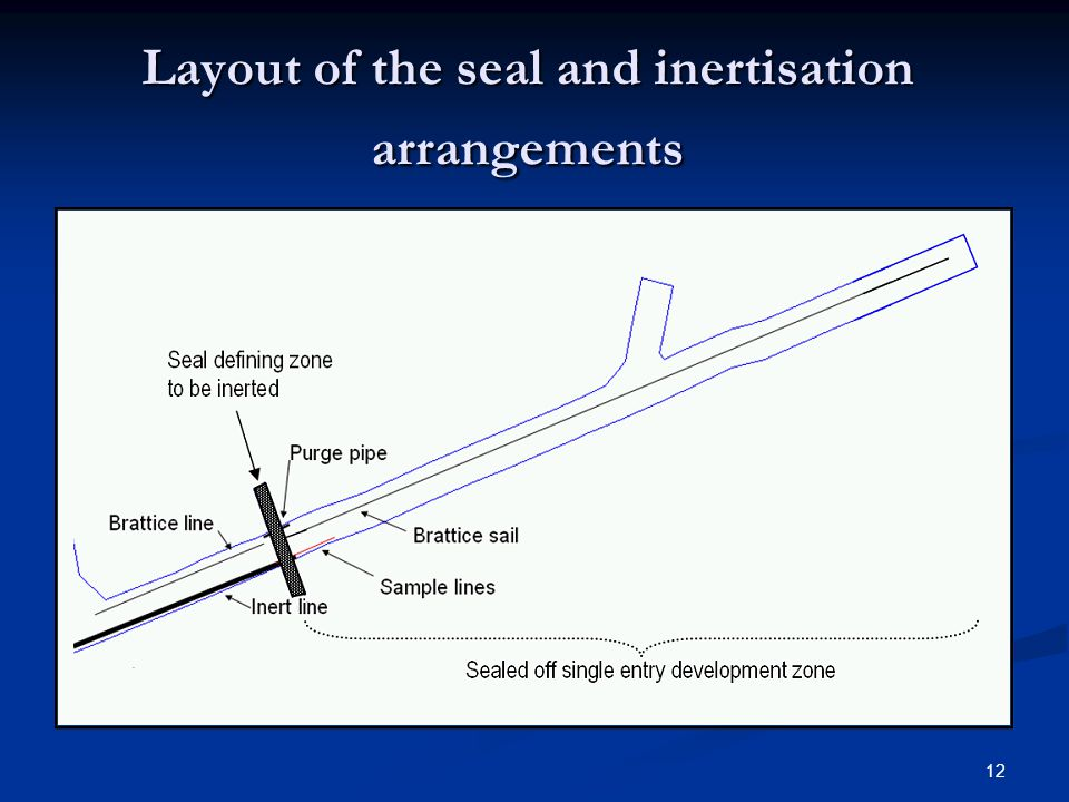 Layout of the seal and inertisation arrangements