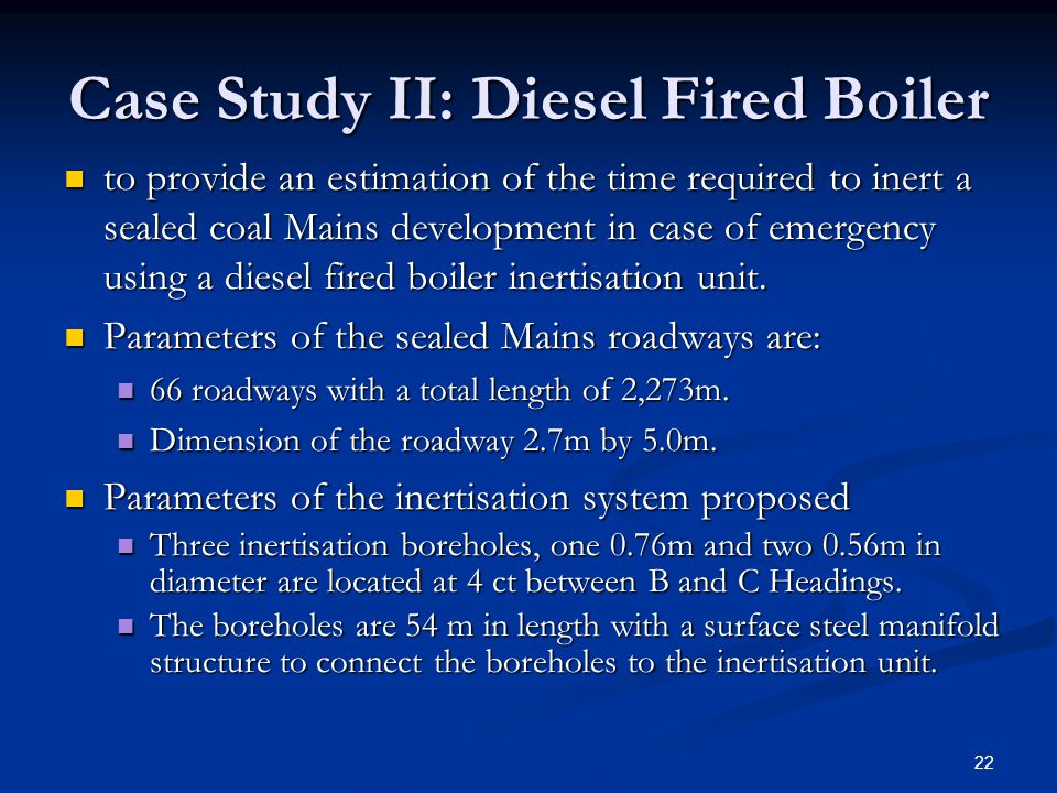 Case Study II: Diesel Fired Boiler