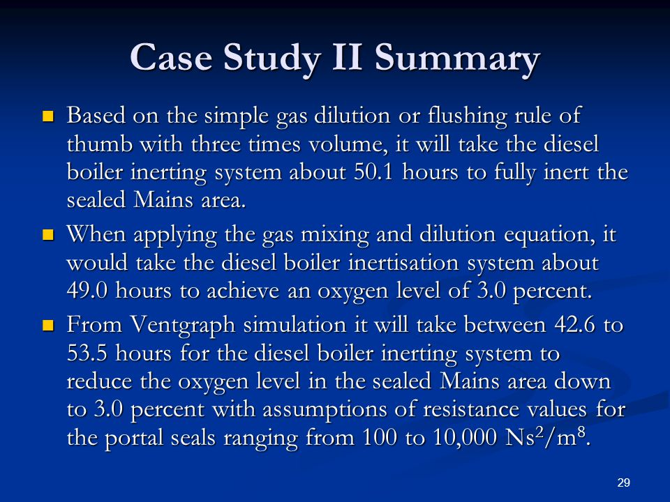 Case Study II Summary
