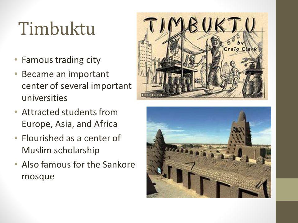 Timbuktu Famous trading city