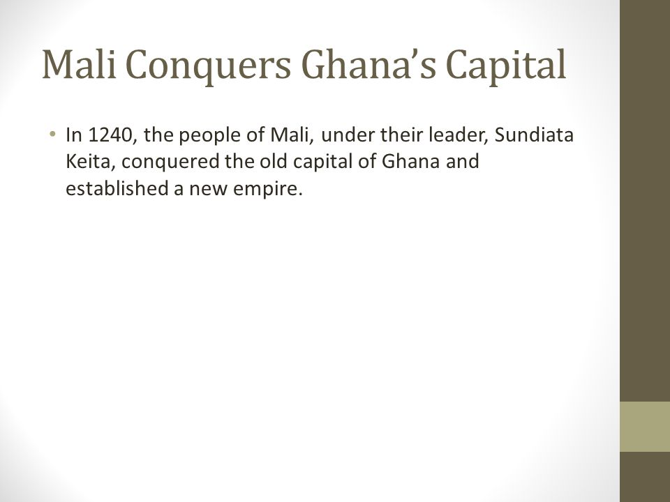 Mali Conquers Ghana's Capital