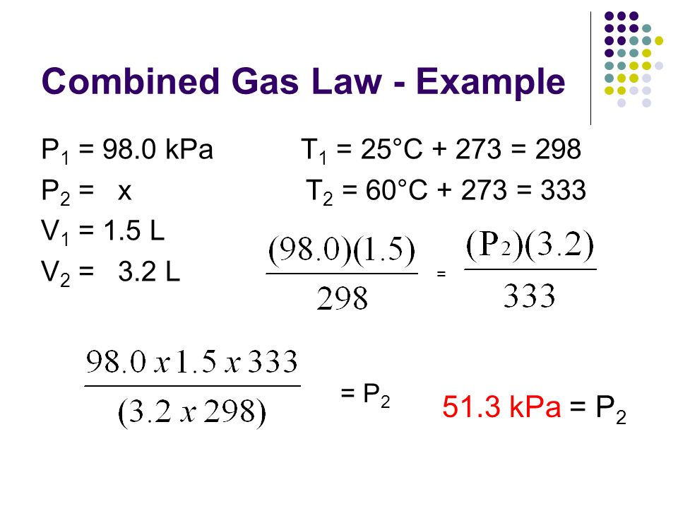Combined Gas Law - Example