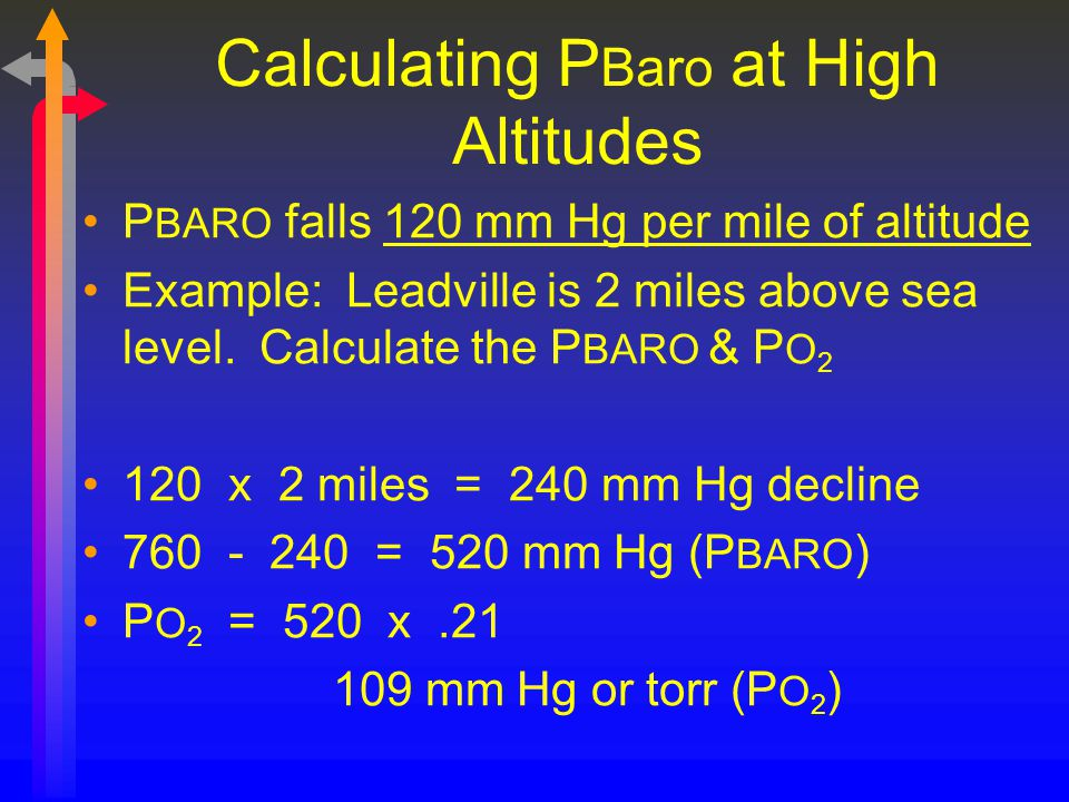 Calculating PBaro at High Altitudes