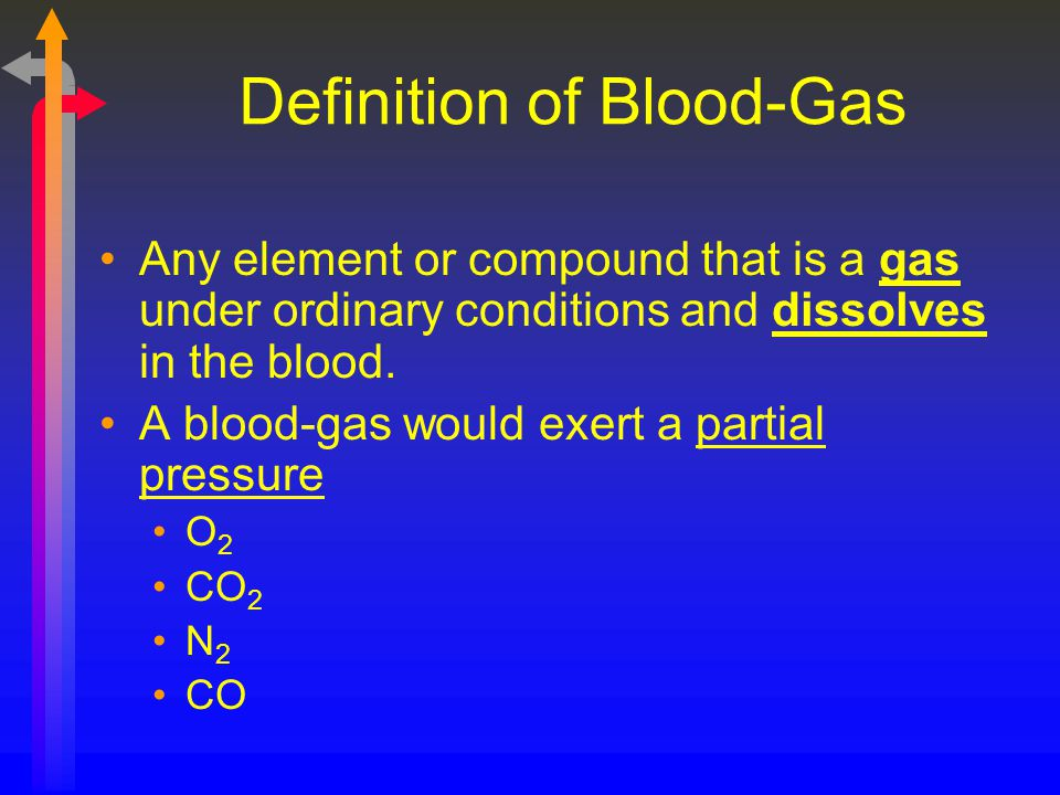 Definition of Blood-Gas