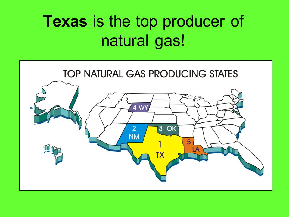 Texas is the top producer of natural gas!