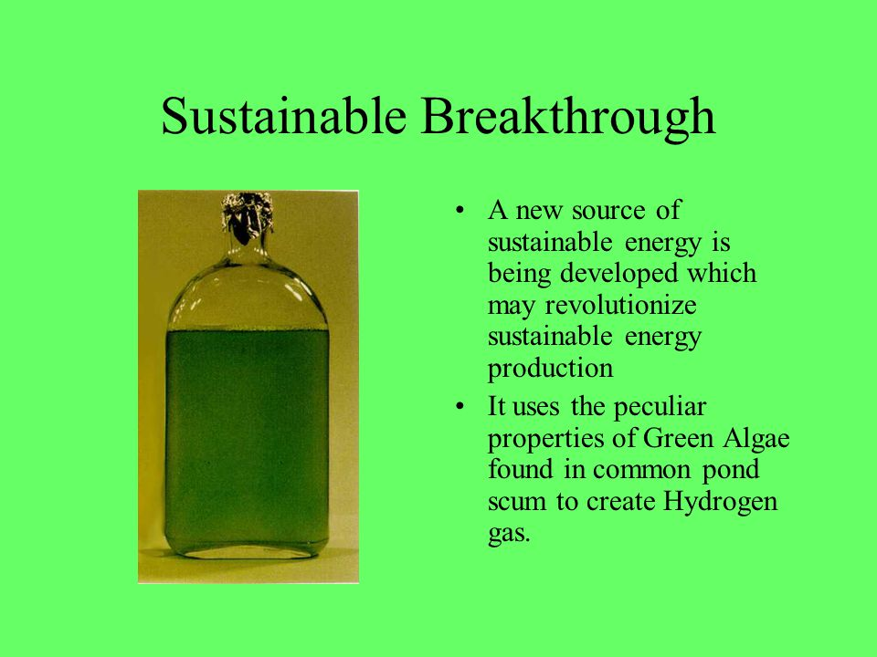 Sustainable Breakthrough