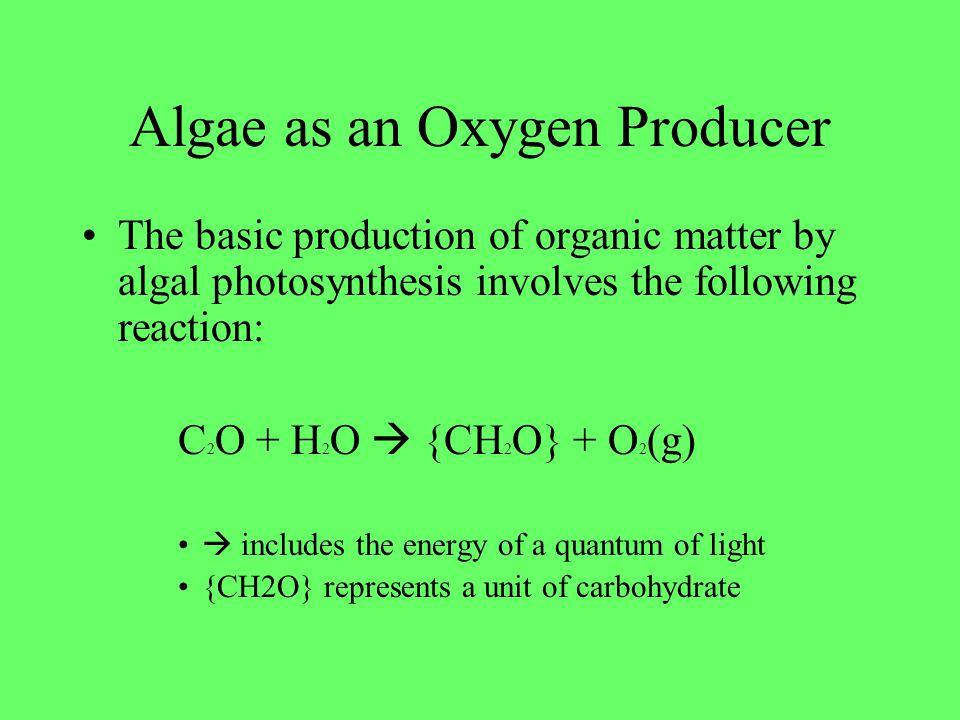 Algae as an Oxygen Producer