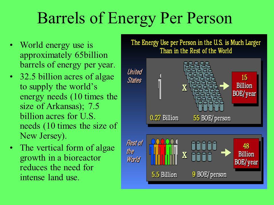 Barrels of Energy Per Person