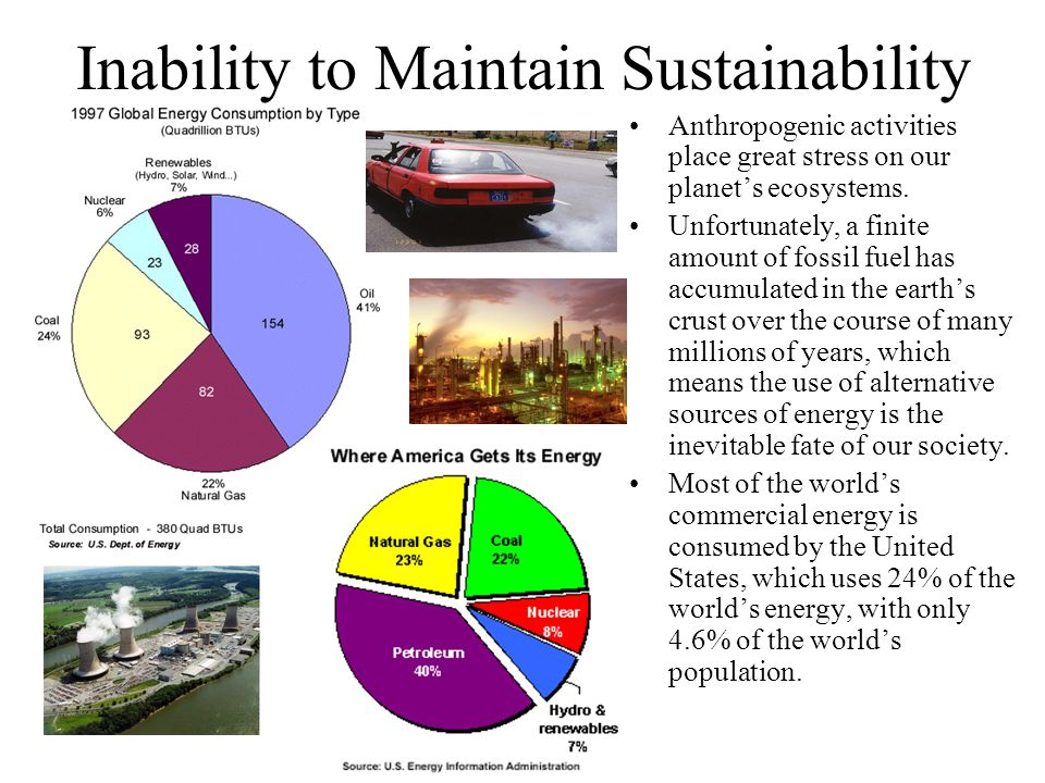 Inability to Maintain Sustainability