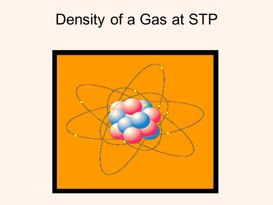 Density of a Gas at STP